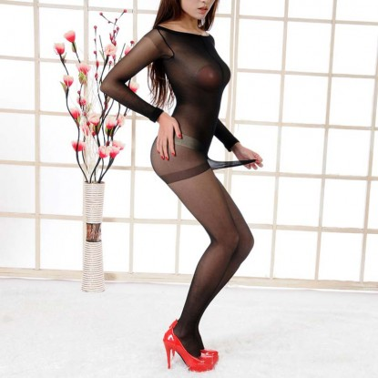 Men Bodystocking Jumpsuit Bodystocking With Pouch